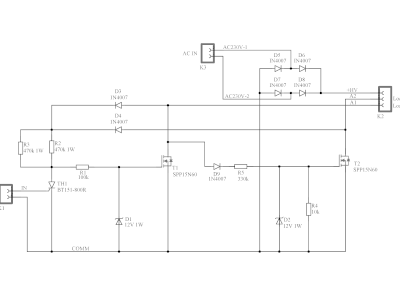 Schematic 160515-2 v1.1 Two-anode MOSFET thyristor (high voltage version)