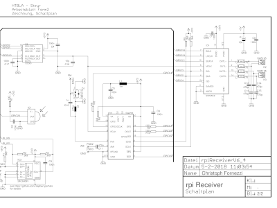 160520-1 v2.0 schematic page 1 of FM Radio Receiver for RPi