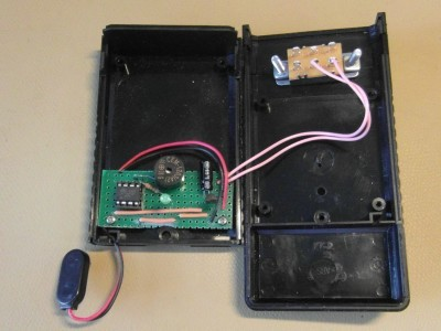 Interior of the box