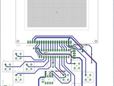 PCB of the Chip8 V1