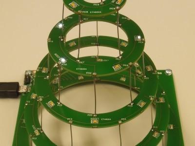 Circular christmas tree view 1