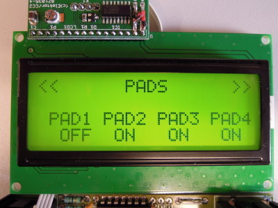 PAD mode display