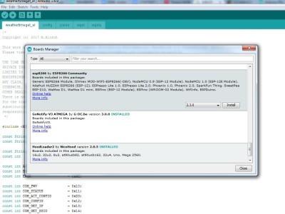 Arduino IDE: installing ESP8266 boards