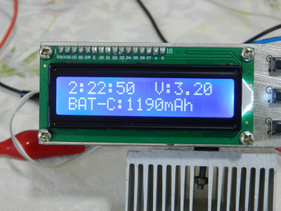 The true calculated capacity of the 8.800mA rated lithium-ion battery