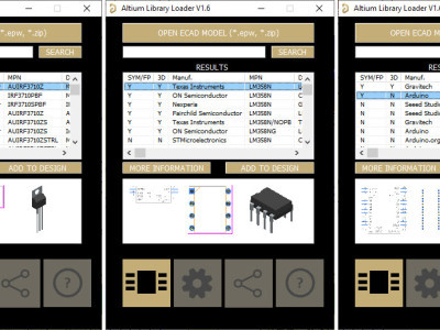 Installed components from the SamacSys Altium plugin