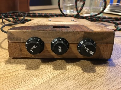 3 classical guitar-pots from china, 2 reside on rotary-encoders and Volume resides on a potentiometer