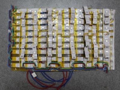 The finished LED matrix
