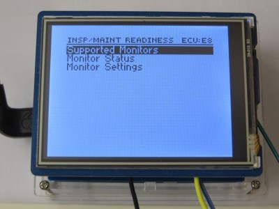 Inspection/Maintenance Readiness Menu