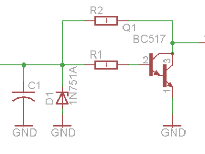 This is the I/O schematic that we will use. Depending on which components you solder, you can decide in- or output.