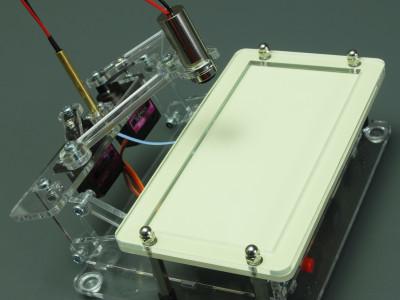 Laser Plot Clock - side view