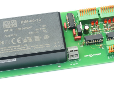 Optocoupler board with additional 12 V 5 A power supply