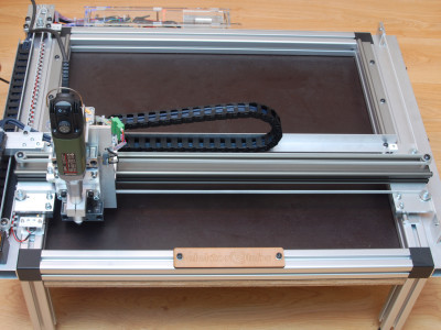 The (almost) finished CNC portal machine prototype