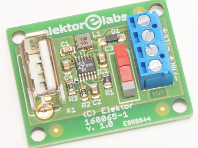 Voltage booster PCB detail