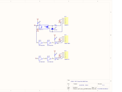 PIC32 Sound Pad Schematic - MIDI part