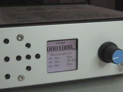 Front view of the 10 MHz DDS Function Generator of Theodorou