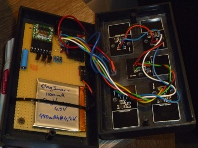 Transmitter prototype inside