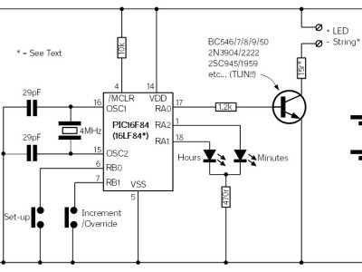 Version 0.0 schematic using DIP part