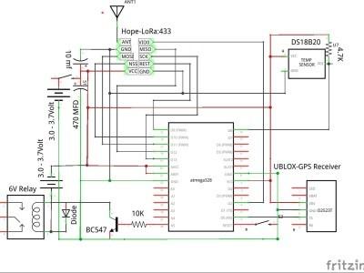 Sender unit schematic
