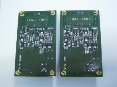 Transmitter and receiver bottom view (2 x PCB 160119-1 v1.0)