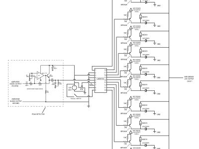 The customized VU meter circuit diagram