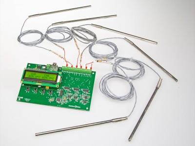6-Kanal-Temperaturmonitor/logger – Messungen von -240 °C bis +850 °C