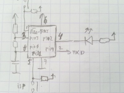 LPC810 as NE555 or as Capacitance Meter