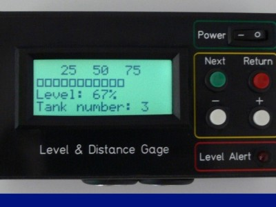 Level and distance gauge with alarm function [140209-I]