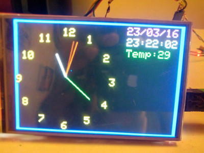"4"" TFT Analog-GPS clock on Arduino"