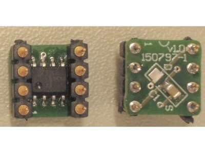 SO8 to DIP8 adapter - for OPAMPS and more
