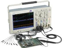 Oscilloscope à domaines mixtes