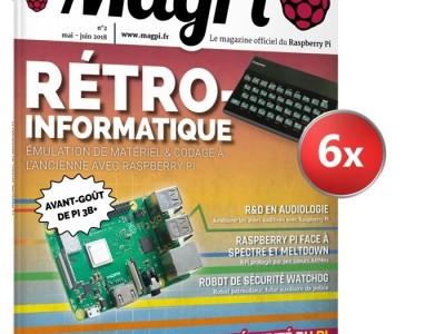 Abonnement au magazine MagPi = kit RPi Zero W offert