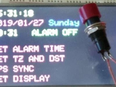 Réveil GPS avec bibliothèque pour écran tactile et fonctions graphiques