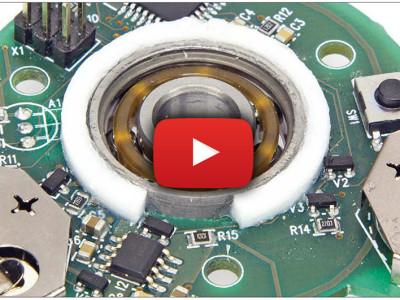 Toupie lumineuse : couplage mécanique & électronique
