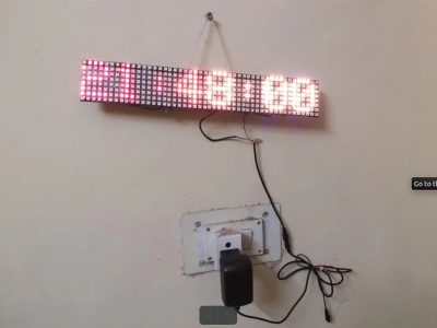 Neo_Pixel Rolling Message display for Control Room