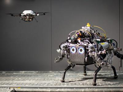 Le robot et son ange gardien volant