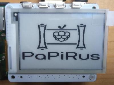 Banc d'essai : PaPiRus - HAT ePaper Screen pour RPi