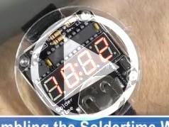 Elektor.TV   C'est l'heure de la montre en kit Solder:Time