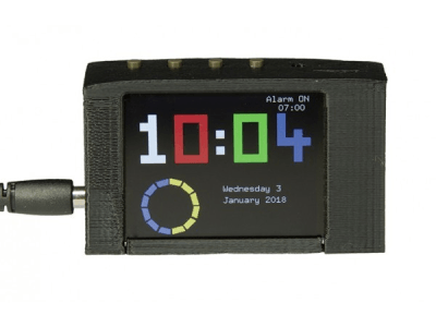3 displays alarm-clock with TFT screen, Softwareupdate and RTC upgrade [170112-b]