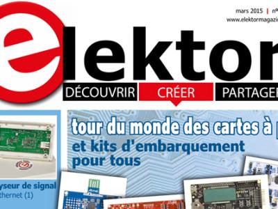 Le nouveau numéro d'Elektor (mars 2016) vient de paraître