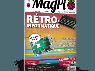Parution du deuxième numéro du MagPi (mai-juin 2018)