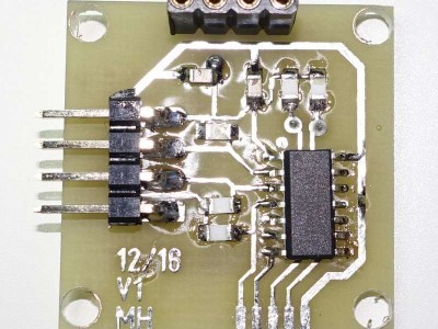 The upperside with the components