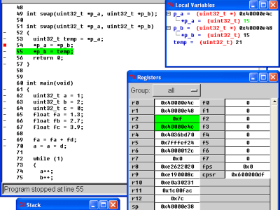 Figure 6. Insight is a graphical interface for GDB.