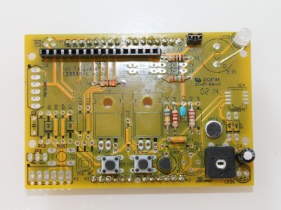 Populated board.