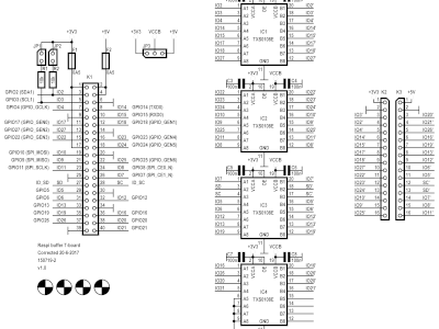 Schematic of the T-board RPi buffer (150719-2 v1.0)