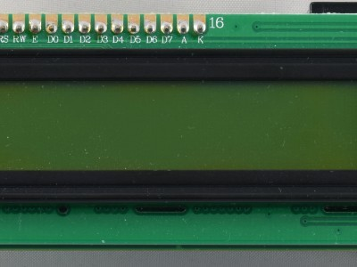 View on display of prototype of RF Power Meter (160193 v1.0)