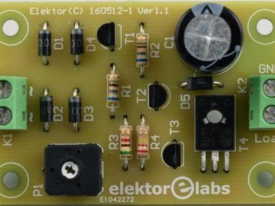 Top view Baristor PCB 160512-1 v1.1