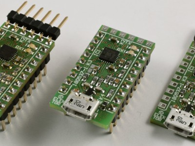 Frol left to right, all pin headers, self-powered, a socket for K2