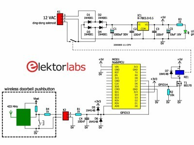 Doorbell interface circuit diagram