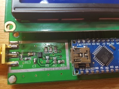 PCB with lcd and arduino