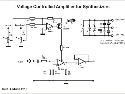 Image 8: Cirquit diagram of VCA